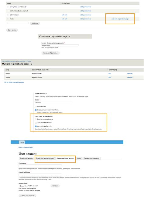 drupal create custom form creating role specific user registration forms in drupal