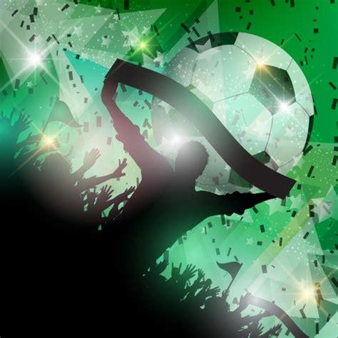 Grüne Fußballfans Hintergrund  Download Der Kostenlosen