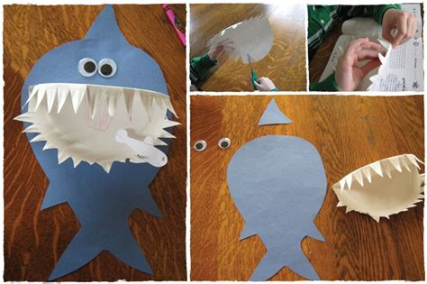 it s a paper shark for sharkweek use craft gluedots and 850 | a0560340c93f17b922675520feed8479