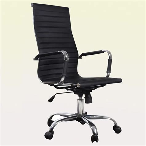 chaise de bureau a black leather office chair high back vidaxl com