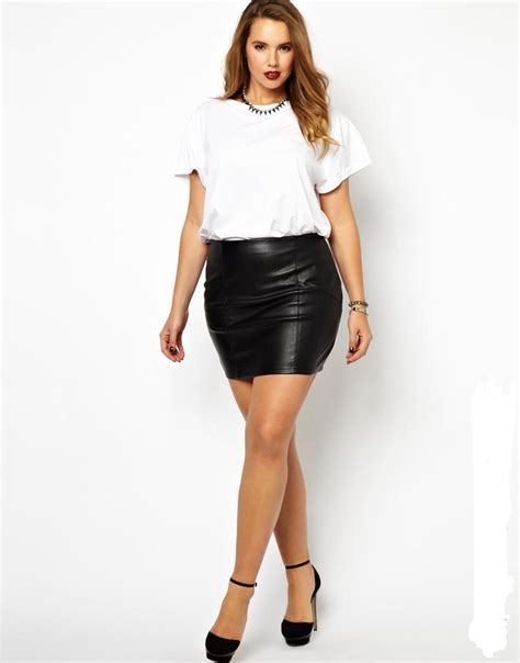 Short Pu Leather Skirts Plus Size 5xl 6xl Midi Skirt