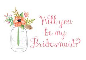rustic wedding invites will you be my bridesmaid card jar wedding