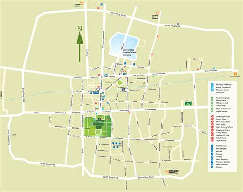 yogyakarta tourist map yogyakarta mappery