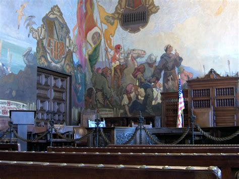 santa barbara courthouse mural room bowdish home page santa barbara places and photos