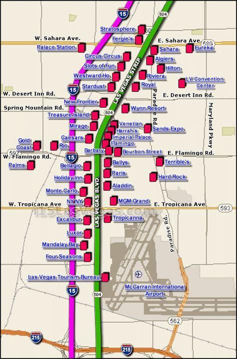 vegas strip hotel map interactive clickable las vegas