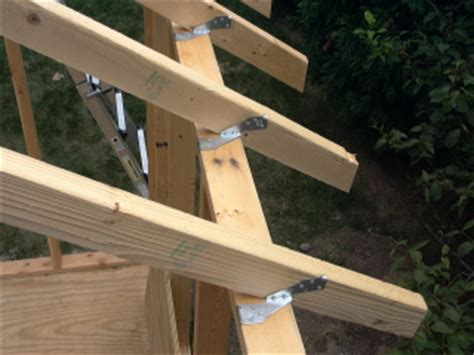 shed construction project framing rafters macroware