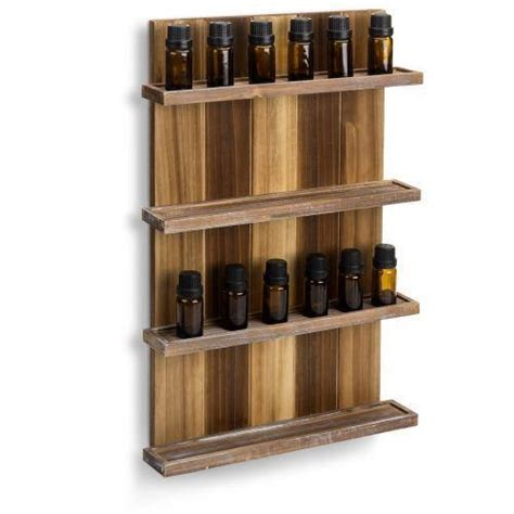 wall mounted pallet style essential oil rack mygift