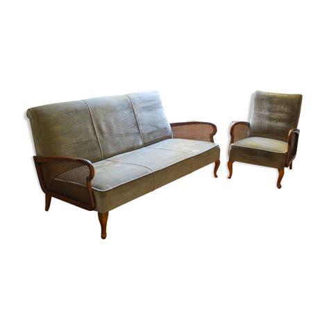 canape fauteuil ensemble canapé et fauteuil vintage mes petites puces
