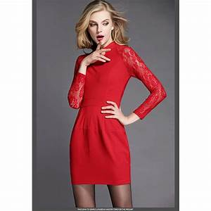 robe rouge manche longue robe de maia With robe rouge manche longue