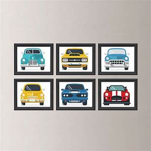 Classic cars wall art car decor boy retro