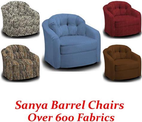 sanya swivel glider barrel chair