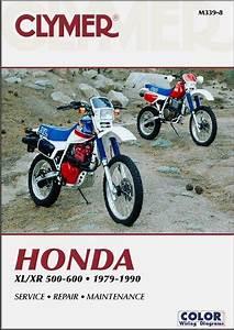 Honda Xl500  Xr500  Xl600  Xr600 Repair Manual 1979
