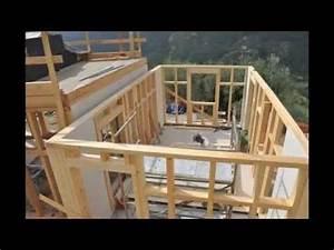 Construire Une Extension En Bois Soi Même : montage maison ossature bois youtube ~ Premium-room.com Idées de Décoration