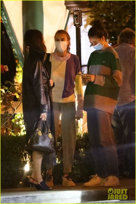 Cara Delevingne Dines at the Chateau Marmont with the ...