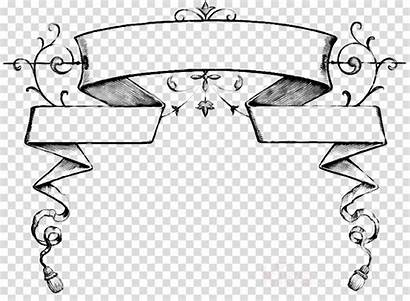 Scroll Banner Ribbon Clip Clipart Transparent Line
