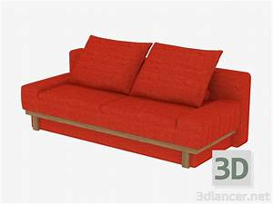 3d With sofa bed for two persons