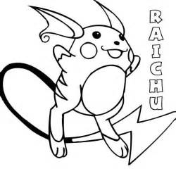 pokemon raichu coloring page
