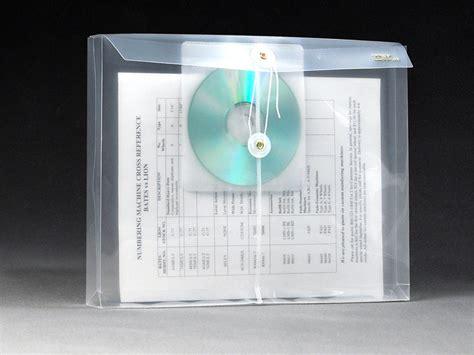 clear plastic envelopes  string cd pocket letter side