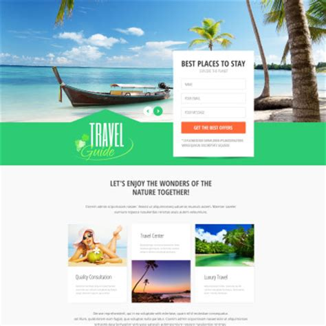Tourism Landing Page Templates by Travel Templates