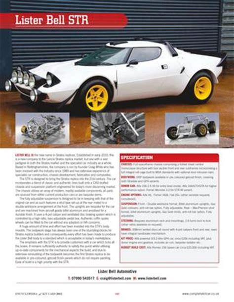 Encyclopedia Of Kit Cars By Performance Publishing Ltd Issuu