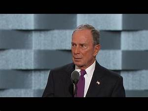 Former NYC Mayor Michael Bloomberg endorses Clinton in DNC ...