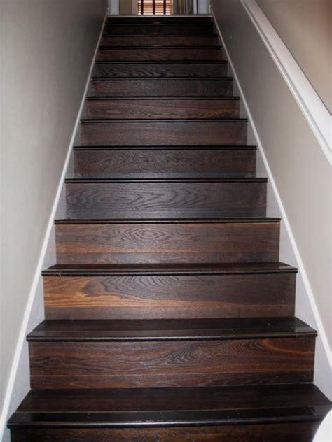engineered wood stairs carbonized white oak oiled brushed engineered prefinished modern hardwood flooring
