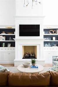 30, Stunning, White, Brick, Fireplace, Ideas, Part, 1