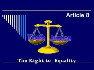 Article 8 right to equality and its exceptions
