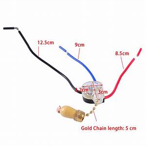 3 Wires Ceiling Fan Light Pull Chain Cord Switch Control