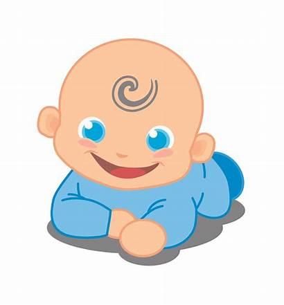 Tummy Head Boy Clipart Flat Sleeping Months