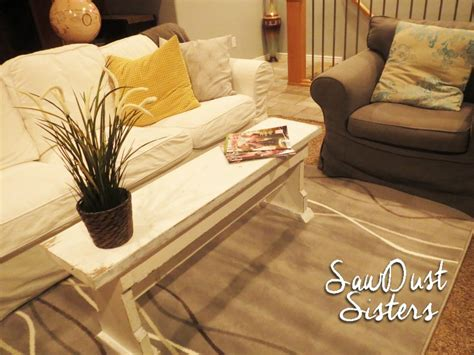 using a bench as a coffee table diy narrow coffee table or country bench tutorial shanty