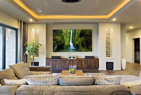 decorate  living room   projector screen