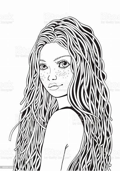 Coloring Pages Teenage Adult Doodle Teenagers Cool