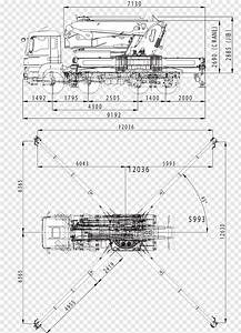 Engineering  Diagram  Mobile Crane  Truck  Technical