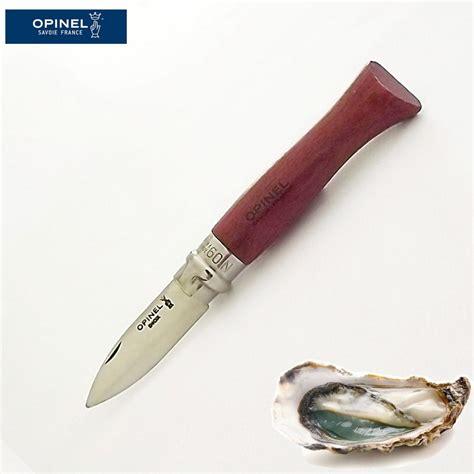 couteau de poche a huitre opinel pour ouvrir et manger des huitres