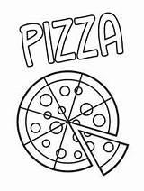 Pizza Pepperoni Coloring sketch template