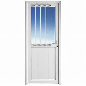 Portes interieures avec porte de service pvc vitree for Porte de garage coulissante et porte de service vitrée