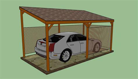 build attached lean  carport plans  plans