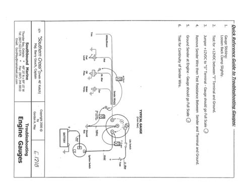 Typical Wiring Diagram Engine Gauges Engione