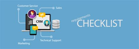 Crm Requirements Template by Crm Requirements Checklist Crm Requirements Template