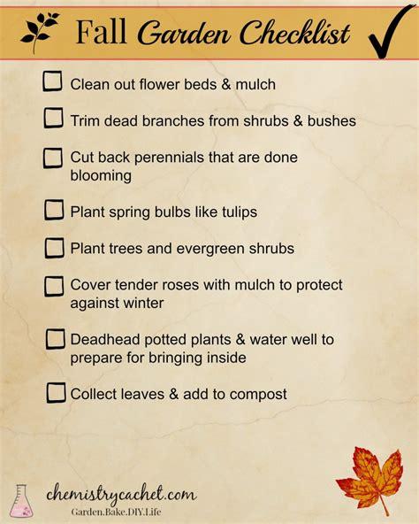 fall garden checklist for busy