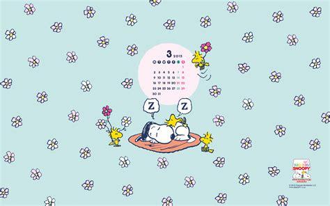 love kawaii snoopy march  wallpaper calendar chainimage