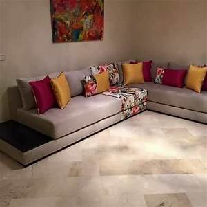 stunning model salon moderne marocain pictures awesome With tapis ethnique avec modele de canape moderne