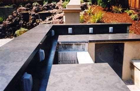 outdoor kitchen counters slate countertops design ideas for generate more valuable cooking time