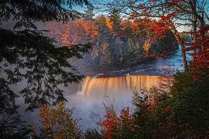 Autumn Waterfall Forest Fall 5k 4k Desktop
