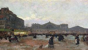 Java Script Code Examples The Gare De L 39 Est Luigi Loir Painting Reproduction
