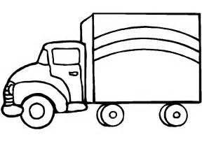 coloring page of truck images