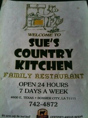 sues country kitchen sue s country kitchen family restaurant diners bossier 2604