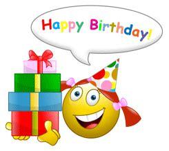 happy birthday emoticons  greet  friends birthday