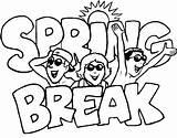 Spring Coloring Break Vacation 2k11 Beaches Easter Suntan sketch template